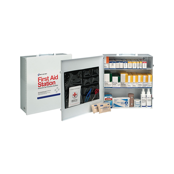 3-Shelf, 100-Person Industrial First Aid Station