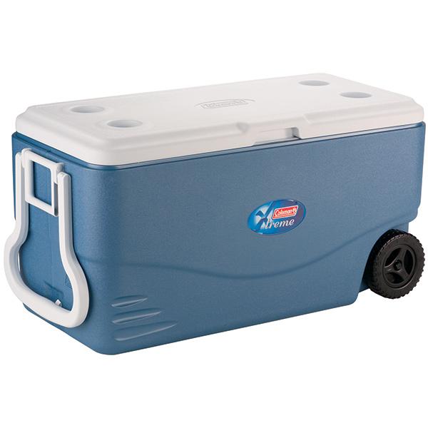 Coleman® Xtreme® 5 Wheeled Cooler, 100 quart, Blue