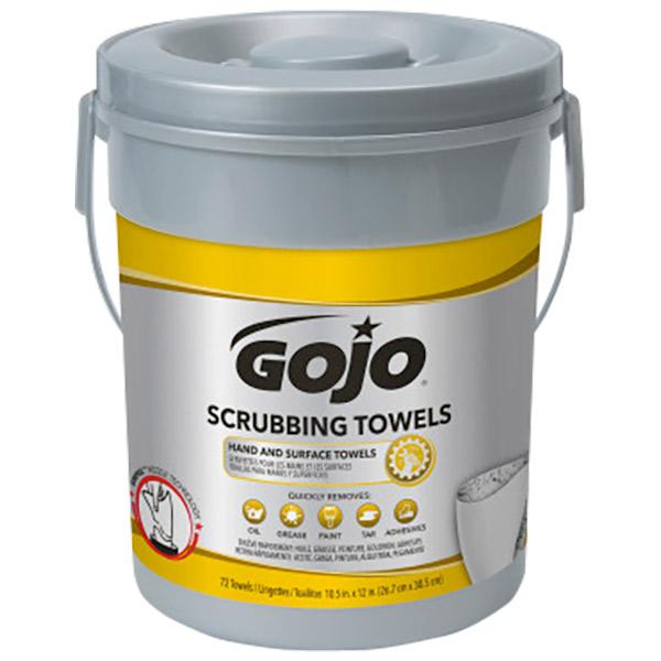 Gojo® Heavy-Duty Scrubbing Towels, 6 Containers/72 ea