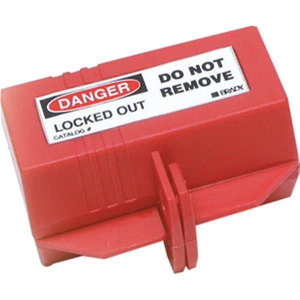 "Brady® Plug Lockout w/ 1/2"" Cable Hole, 110 VAC, Small"
