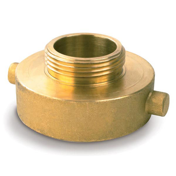 "Female x Male Brass Reducer, 2 1/2"" NPSH x 1 1/2"" NST"