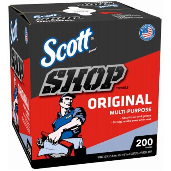 """Scott® Shop Towels, 10"""" x 12"""", 8 Boxes/200 ea"""
