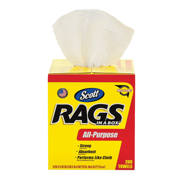 Scott® Rags In A Box, 8 Boxes/200 ea
