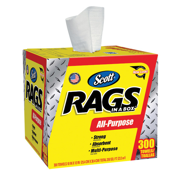 Scott® Rags In A Box, 300/Box