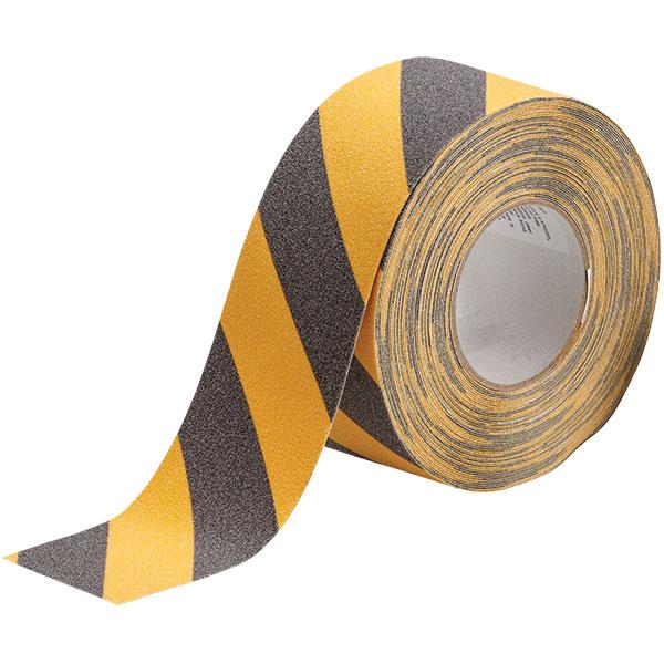 "Brady® Anti-Skid Tape, 3"" x 60', Black/Yellow"
