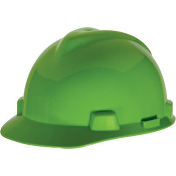 MSA V-Gard® Standard Slotted Cap w/ Staz-On® Suspension, Bright Lime Green
