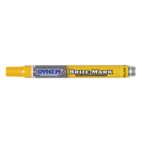 ITW ProBrands™ Brite-Mark® Medium Tip Permanent Paint Markers, Yellow