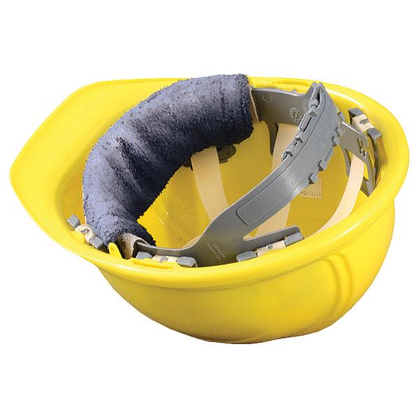 OccuNomix Clip-On Hard Hat Sweatband, Gray