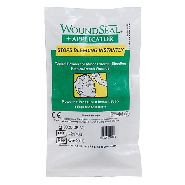 "WoundSealâ""¢ Blood Clot Powder, Applicator Packs, 2/Pkg"
