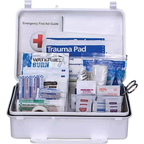 "25-Person ANSI A+ Weatherproof First Aid Kit, 10""L x 7""H x 3""W, Plastic"