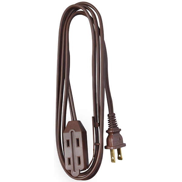 Cube Tap Extension Cord, 6', Brown