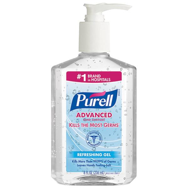 Purell® Advanced Instant Hand Sanitizer, 8 oz Pump Bottle, 12/Case