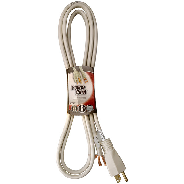 Replacement Power Supply Cord, 6'