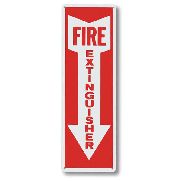 """""""Fire Extinguisher"""" w/ Arrow, Aluminum, 12"""" x 4"""""""