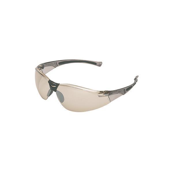 Uvex® A800 Series Eyewear, Gray Frame, Indoor/Outdoor Silver Mirror Lens