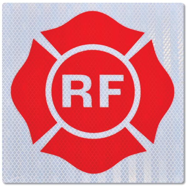 "NMCâ""¢ Florida Truss Sign, ""RF"", 9"" x 9"", Aluminum"