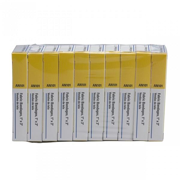 """Fabric Bandages, 1"""" x 3"""", 16/Box"""
