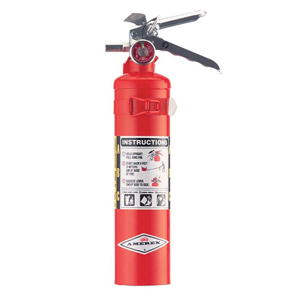Amerex® 2.5 lb ABC Extinguisher w/ Aluminum Valve & Vehicle Bracket