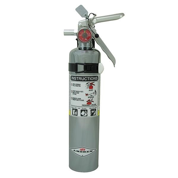 Amerex® 2.5 lb ABC Chrome Extinguisher w/ Vehicle/Marine Bracket