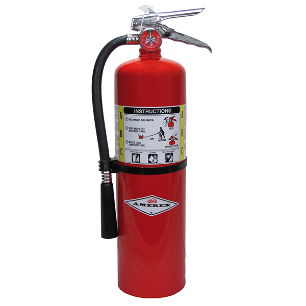 Amerex® 10 lb ABC Extinguisher w/ Brass Valve & Wall Hook