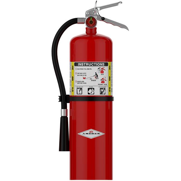 Amerex® 10 lb ABC Extinguisher w/ Aluminum Valve & Wall Hook