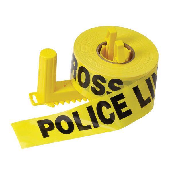 "Presco Barricade Tape, 2.5 mil, ""Police Line Do Not Cross"", Yellow, 1/Roll"