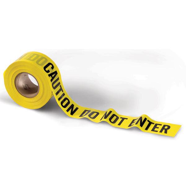 "Presco Barricade Tape, 2.5 mil, ""Caution Do Not Enter"", Yellow, 1/Roll"