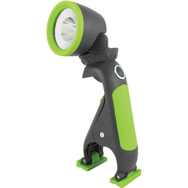 Blackfire® 3AAA LED Clamplight w/o Batteries, Black/Green