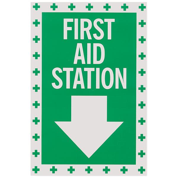 """First Aid"", Self-Adhesive, Vinyl, 8"" x 12"""