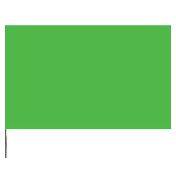 """Presco PresGlo Marking Flags, 21"""", Green Glo, 100/Case"""