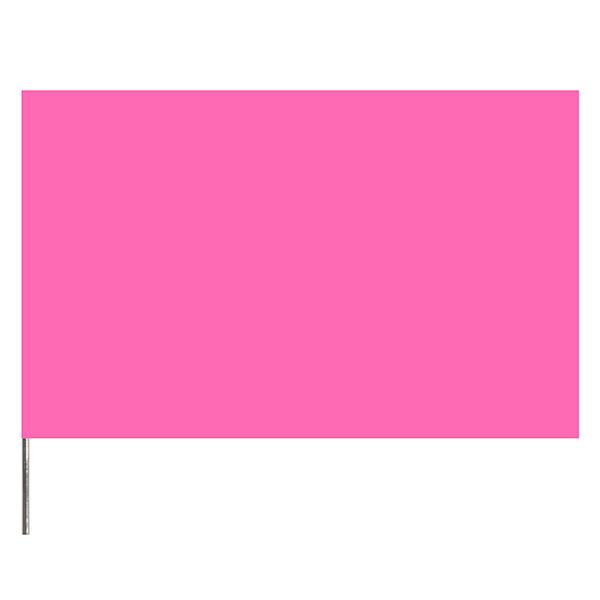 "Presco PresGlo Marking Flags, 21"", Pink Glo, 100/Case"