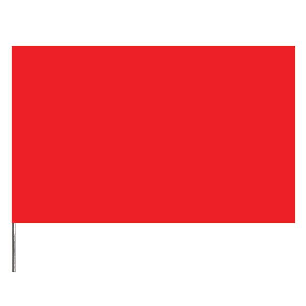 "Presco PresGlo Marking Flags, 21"", Red Glo, 100/Case"