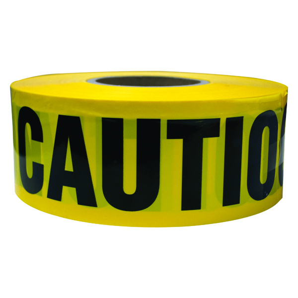 "TruForceâ""¢ Barricade Tape, ""Caution"", Yellow/Black"