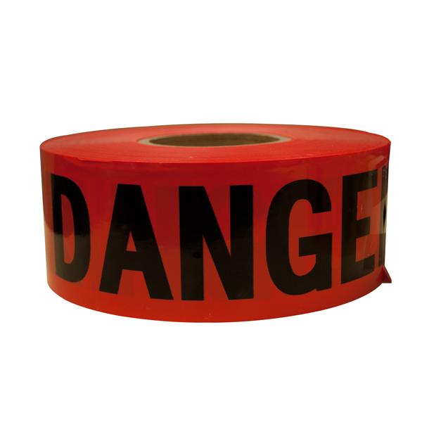 "TruForceâ""¢ Barricade Tape, ""Danger"", Red/Black"