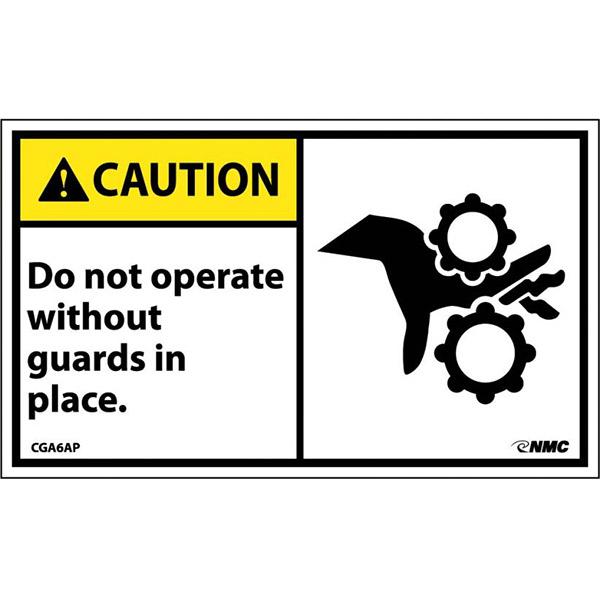 "NMCâ""¢ ""Caution Do Not Operate..."" Label"