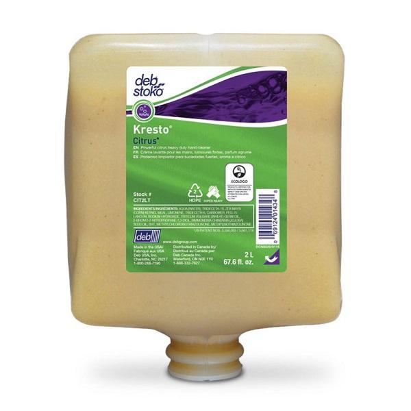 Deb Group Refresh™ Kresto® Citrus Super Heavy Duty Hand Cleanser, 2 L Refills, 4/Case
