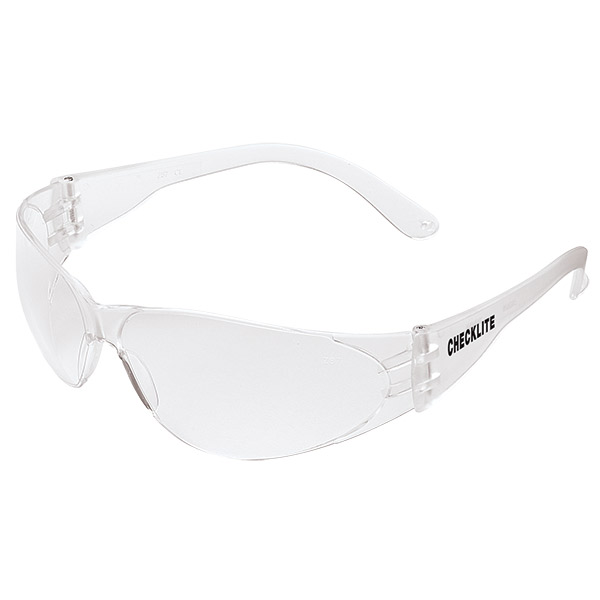 MCR Safety® Checklite® Eyewear, Clear Frame/Lens (Uncoated)