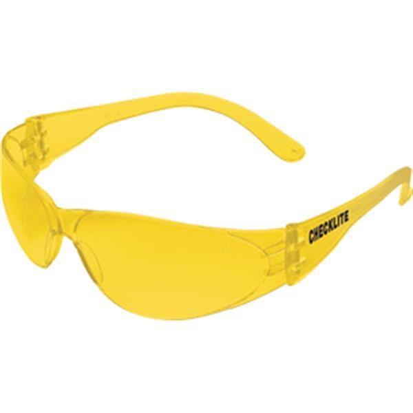MCR Safety® Checklite® Eyewear, Amber Frame/Lens