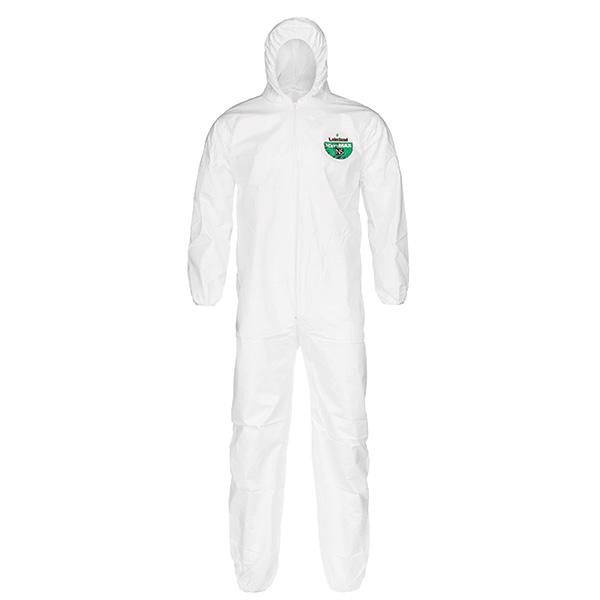 Lakeland MicroMax® NS Coveralls w/ Hood & Elastic Wrists & Ankles, X-Large, Vendor Packs, 50/Case