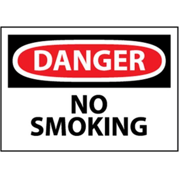 "NMCâ""¢ OSHA ""Danger No Smoking"" Sign, Rigid Plastic, 10"" x 14"""