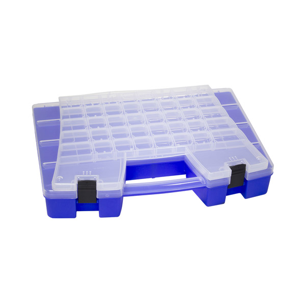 "Akro-Mils® Portable Storage Organizer, 62 Compartments, 18 1/2""L x 3 3/8""H x 13 1/8W"