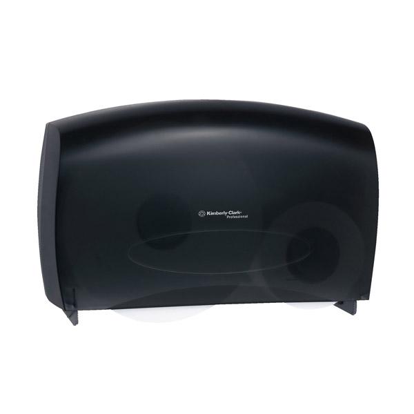 Scott® Cored JRT Combo Unit Bath Tissue Dispenser, Smoke
