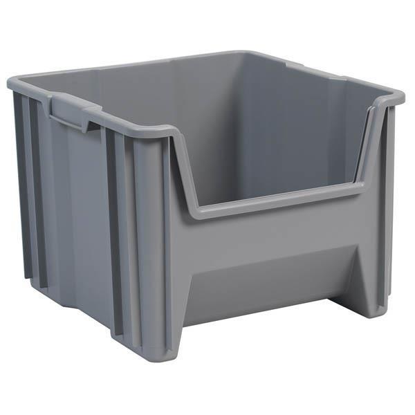 "Akro-Mils® Stak-N-Store Bin, 17 1/2""L x 12 1/2""H x 16 1/2""W, Gray"