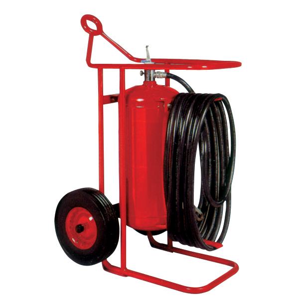 """Badgerâ""""¢ 125 lb Wheeled Stored Pressure Purple K Extinguisher, 50' Hose"""