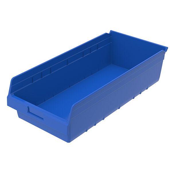 """Akro-Mils® ShelfMax® Bin, 23 5/8""""L x 6""""H x 11 1/8""""W, Blue"""