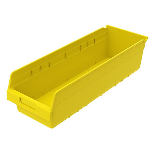 "Akro-Mils® ShelfMax® Bin, 23 5/8""L x 6""H x 8 3/8""W, Yellow"