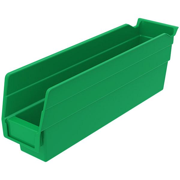 "Akro-Mils® Shelf Bin, 11 5/8""L x 4""H x 2 3/4""W, Green"