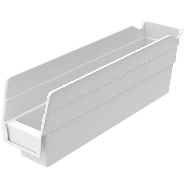 "Akro-Mils® Shelf Bin, 11 5/8""L x 4""H x 2 3/4""W, White"