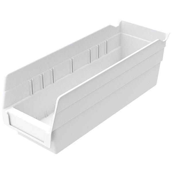 "Akro-Mils® Shelf Bin, 11 5/8""L x 4""H x 4 1/8""W, White"