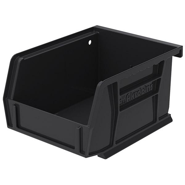 """Akro-Mils® AkroBins® Standard Storage Bin, 5 3/8""""L x 3""""H x 4 1/8""""W, Black"""
